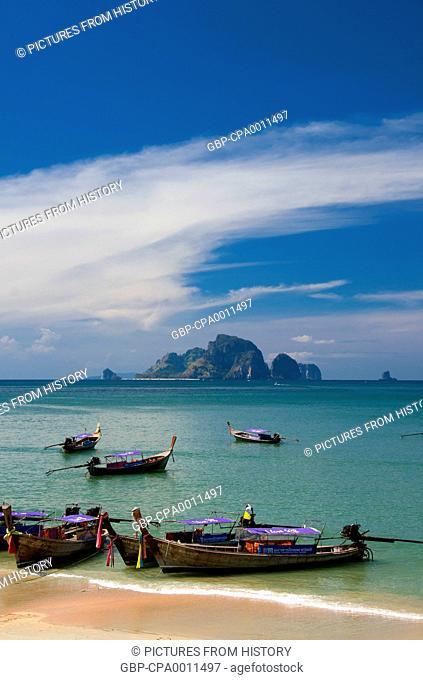 Thailand: Tour boats at Ao Nang, Krabi Coast