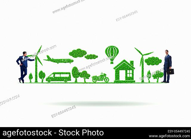 The the concept of clean energy and environmental protection