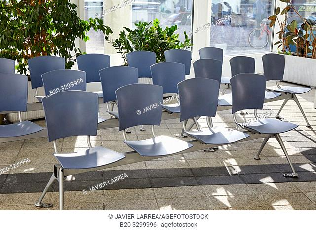 Waiting room, Reception, Amara Berri Health Center building, Donostia, San Sebastian, Gipuzkoa, Basque Country, Spain