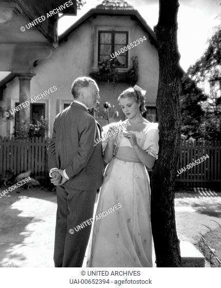 BURGTHEATER / Österreich 1936 / Willi Forst HORTENSE RAKY und WERNER KRAUSS in der Komödie: 'Burgtheater', 1936. Regie: Willi Forst / BURGTHEATER ?sterreich...