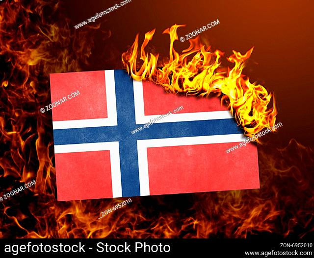 Flag burning - concept of war or crisis - Norway