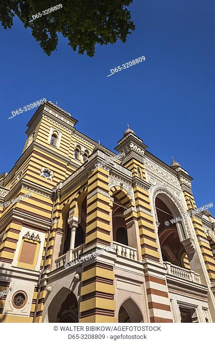 Georgia, Tbilisi, Rustaveli Avenue, Opera and Ballet Theater, exterior