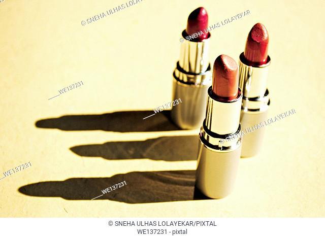 3 Lipstick, object, indoor shot,Poona,Mahrshtra,India