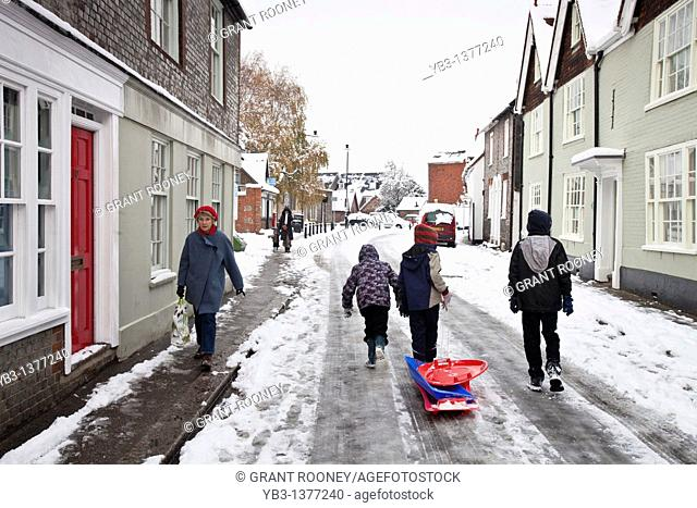 Winter in Lewes, Sussex, England