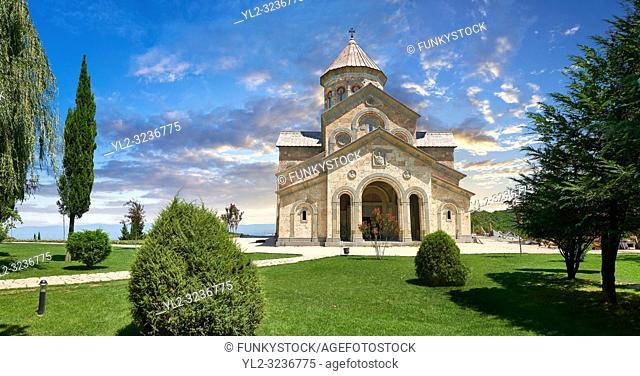 Georgian Classica style church at The Monastery of St. Nino at Bodbe, a Georgian Orthodox monastic complex