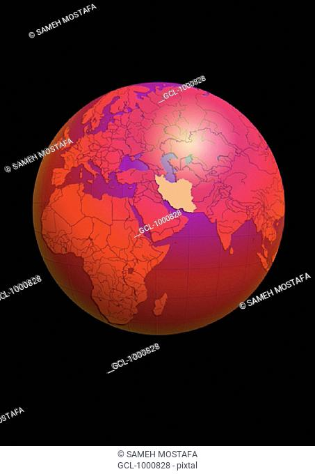 Iran on Globe