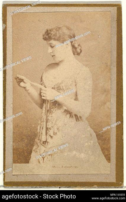 Mrs. Langtry, from the Actresses and Celebrities series (N60, Type 2) promoting Little Beauties Cigarettes for Allen & Ginter brand tobacco products