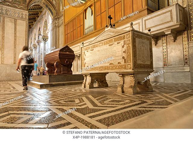 Tomb of King William II, Norman Cathedral of Monreale, near Palermo, Sicily, Italy