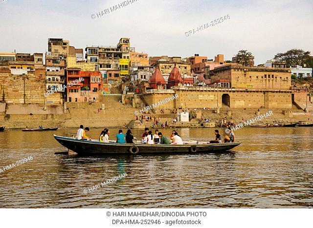 Narad ghat, varanasi, uttar pradesh, india, asia