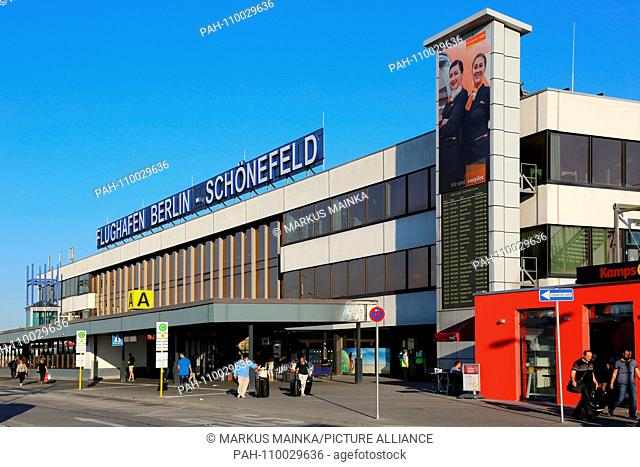 Berlin, Germany - 29. August 2017: Terminal A at Berlin Schönefeld airport (SXF) in Germany. | usage worldwide. - Berlin/Germany