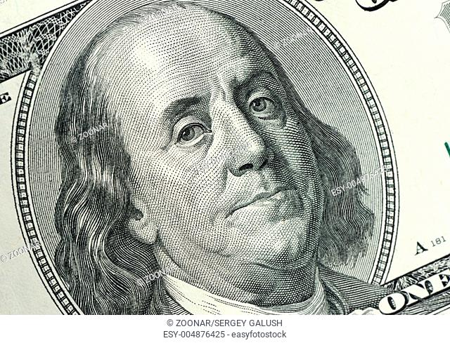 Benjamin Franklin close up