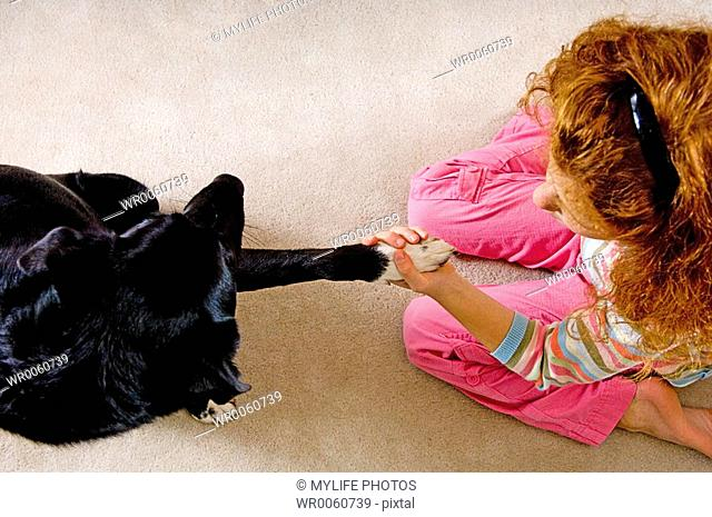 with pet dog