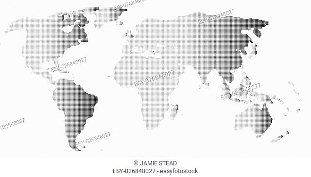 A map of the world in black and white