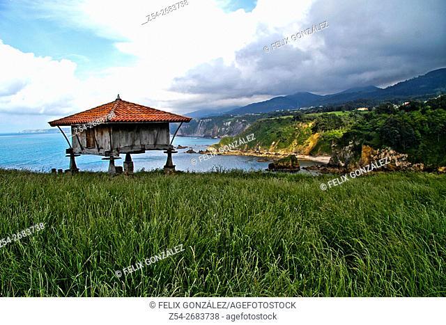 Horreo, Traditional Granary, Cadavedo, Asturias, Spain