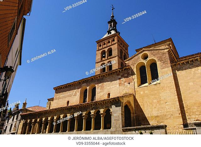 San Martin church, moorish origin with romanesque style, Medina del Campo square. Segovia city. Castilla León, Spain Europe