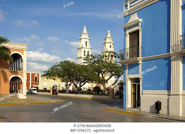Historic town Campeche, Cathedral of Nuestra Senora de la Concepcion, Province of Campeche, Yucatan peninsula, Mexico, UNESCO World Heritage Site