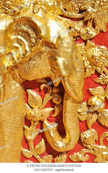 Chiang Mai (Thailand): Buddhist relief at the Doi Suthep temple