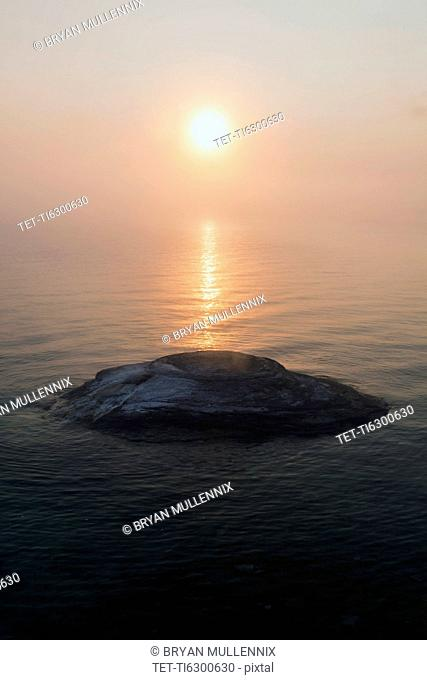 West Thumb Geyser Basin at sunrise