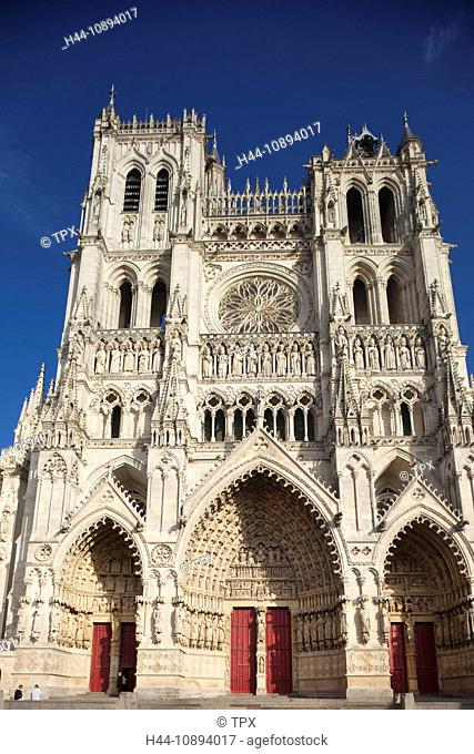 Europe, France, Somme, Picardy, Amiens, Amiens Cathedral, Cathedrale Notre-Dame, Gothic, Cathedral, Cathedrals, UNESCO, UNESCO World Heritage Site
