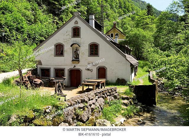 Former Strunz Hammer Hammerwerk Eybl hammer mill, Ybbsitz, Eisenwurzen, Mostviertel, Lower Austria, Austria