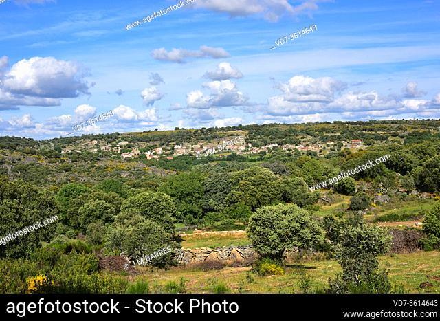 Fornillos de Fermoselle, Villar del Buey municipality. Panoramic view. Zamora province, Castilla y Leon, Spain