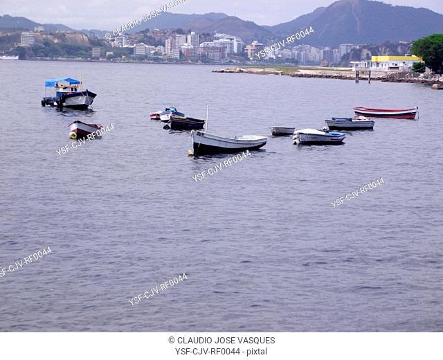 Boating, fishing, sea, river, Guanabara Bay, Rio de Janeiro, Brazil