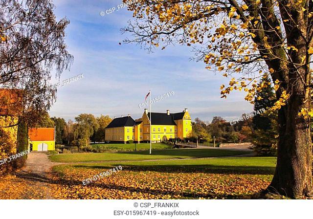 Lykkesholm castle on funen in Denmark