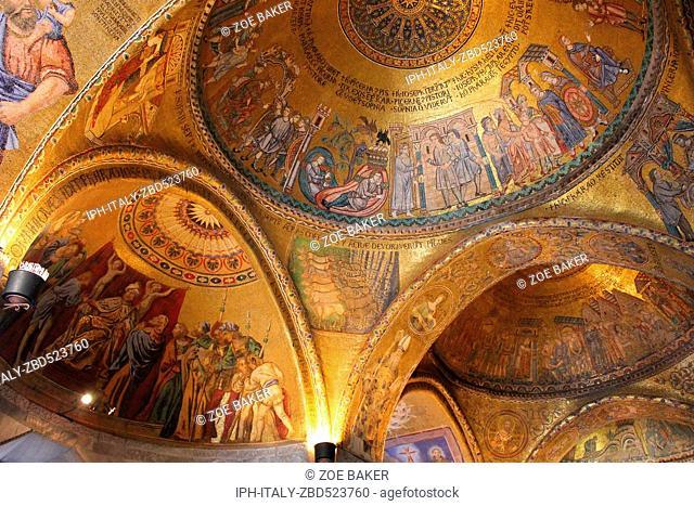Italy Venito Venice Basilica di San Marco interior