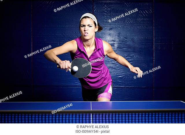Table tennis player training