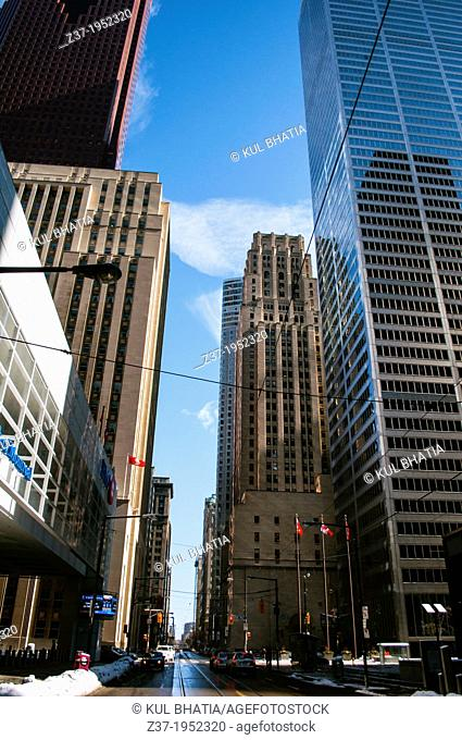 Toronto's Financial District, home to some of the world's largest houses of finance and investment