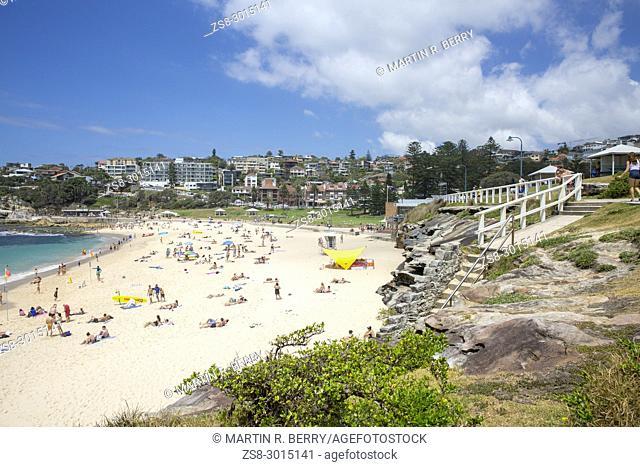 Bronte beach on a summers day in Sydney eastern suburbs, Australia