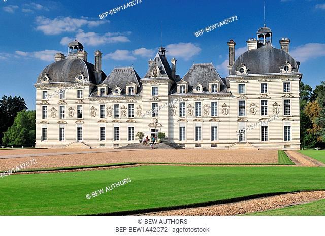 Cheverny Castle built in the seventeenth century in the style of Louis XIII in Cheverny France