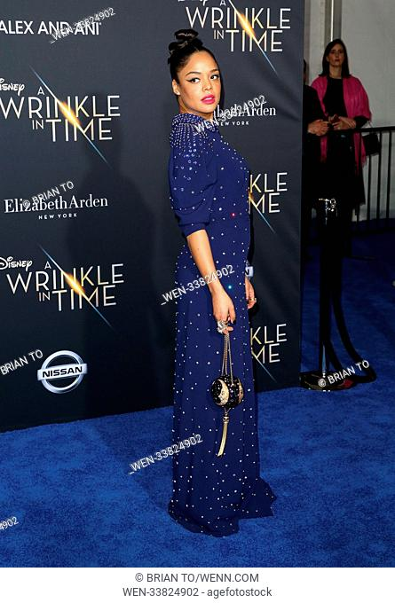"Celebrities attend World premiere of Disney's ""A Wrinkle in Time"" at El Capitan Theatre in Hollywood. Featuring: Tessa Thompson Where: Los Angeles, California"