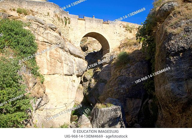 Puente Viejo pedestrian bridge, Ronda, Spain