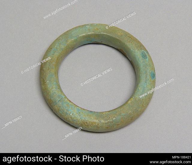 Bracelet. Period: Late period; Date: 300 B.C.-A.D. 400; Culture: Thailand; Medium: Bronze; Dimensions: D. 3 in. (7.6 cm); Classification: Jewelry