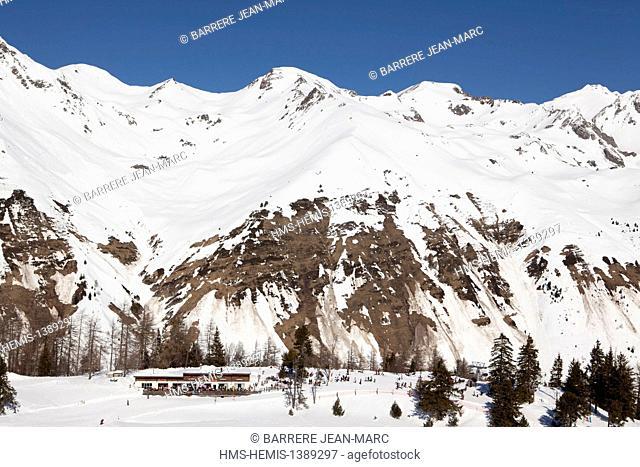 France, Hautes Pyrenees, Le Grand Tourmalet, the ski resort of Bareges La Mongie, Bareges
