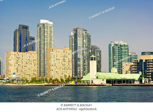 View of Toronto Waterfront from Toronto Islands Ferry, Toronto, Ontario, Canada