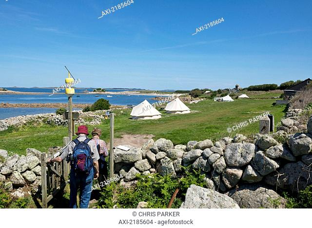 Troytown Campsite, Extreme Atlantic Isolation, In One Of The Uk's Most Naturally Beautiful Campsites, St Agnes, Isles Of Scilly, Cornwall, Europe