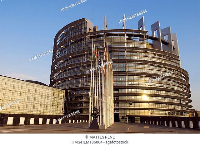 France, Alsace, Bas Rhin, Strasbourg, European Parliament by Architecture-Studio