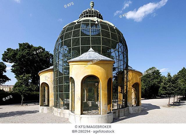 Baroque pigeon house, castle grounds Schoenbrunn, Vienna, Austria