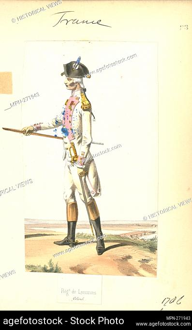 France, 1786-1789. Vinkhuijzen, Hendrik Jacobus (Collector). The Vinkhuijzen collection of military uniforms France France, 1786-1789