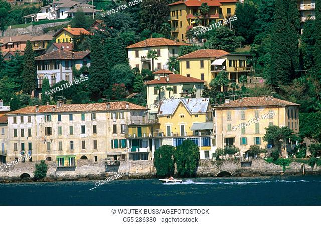 View of Bellano from Lake Como. Lombardy, Italy