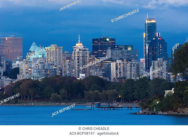 The West End from Stanley Park, Vancouver, British Columbia, Canada