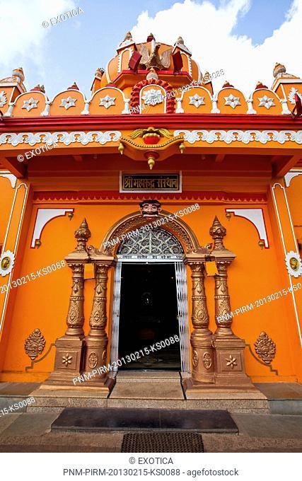 Facade of a temple, Maruti Temple, Mapusa, North Goa, Goa, India
