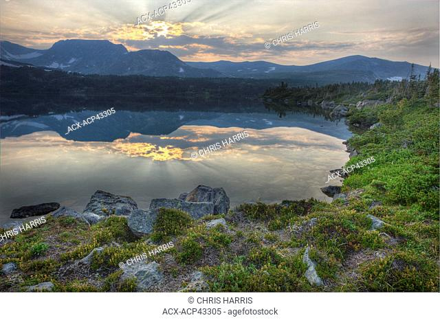 Alpine lake in the Charlotte Alplands of British Columbia, Canada