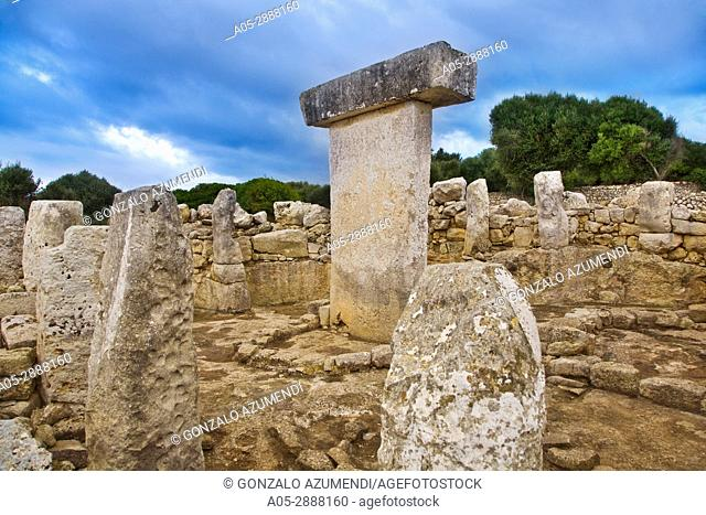 Taula de Torralba. Prehistoric Village of Torralba d'en Salord. Minorca. Balearic Islands. Spain
