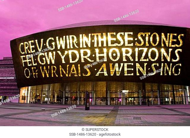 Wales Mellennium Centre in Cardiff Bay, Wales, United Kingdom, Great Britain, Europe
