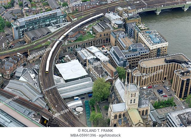 England, view from the Shard to Southwark