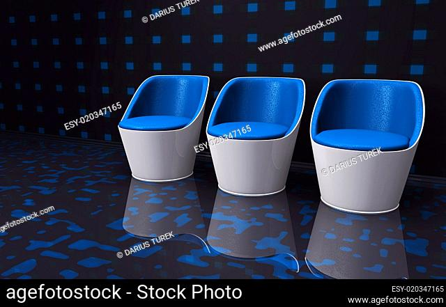 Future Clubchairs blue white