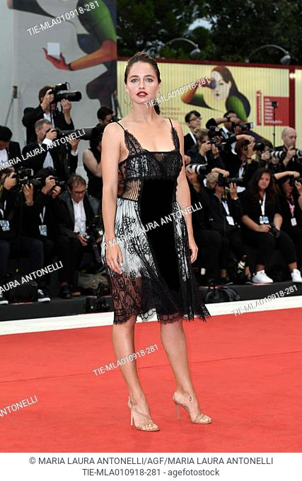 Matilde Gioli during the red carpet of Suspiria premiere. 75th Venice International Film Festival, Venice, Italy 01-09-2018